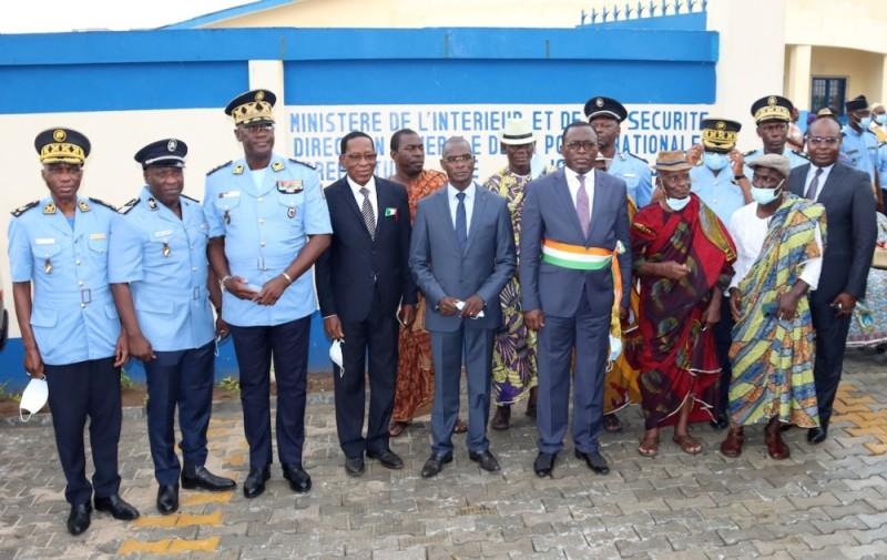 Les efforts conjugués du gouvernement et de la municipalité ont permis à Attécoubé de retrouver son commissariat. (DGPN)