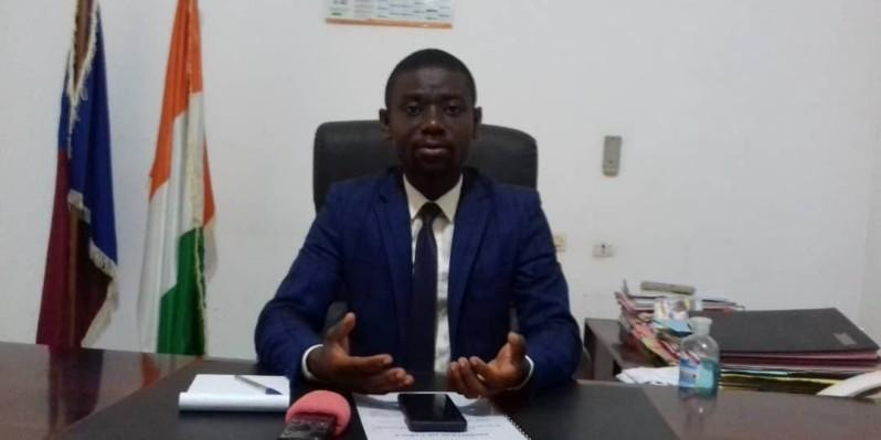 Le candidat Kouadio Douca Marcelin invite les populations d'Assahara et M'Batto à lui faire confiance. (DR)
