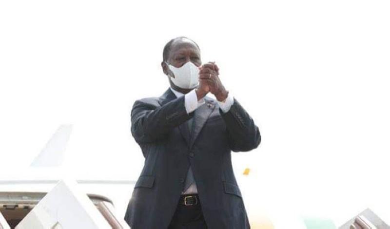 Le Président ivoirien Alassane Ouattara s'est envolé pour la France ce vendredi 26 février. (DR)