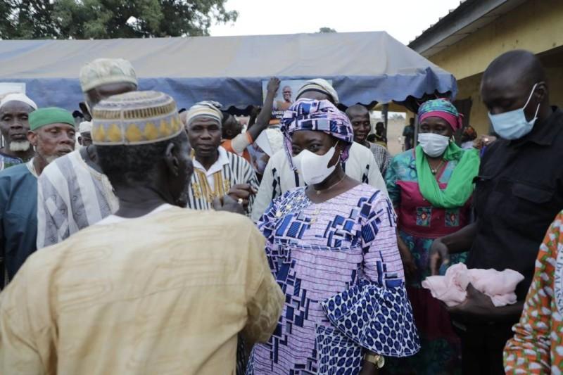 Mariatou Koné en campagne
