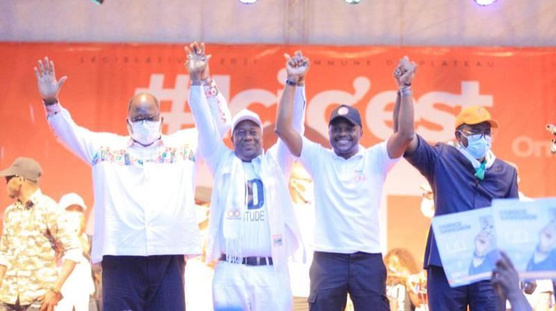La liste Ouattara Dramane et Fabrice Sawegnon (Rhdp) a lancé sa campagne. (DR)
