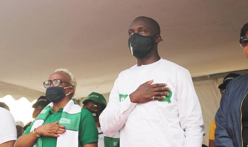 Jacques Ehouo, candidat du Pdci-Rda, au Plateau. (DR)