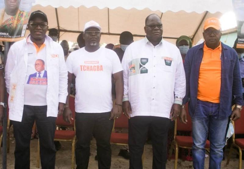 M. Dogoni en compagnie du ministre Laurent Tchagba, candidat du Rhdp