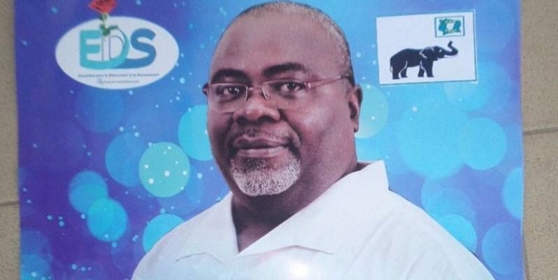 Hié Cyrille, le député sortant, est à la recherche d'un autre mandat. (DR)