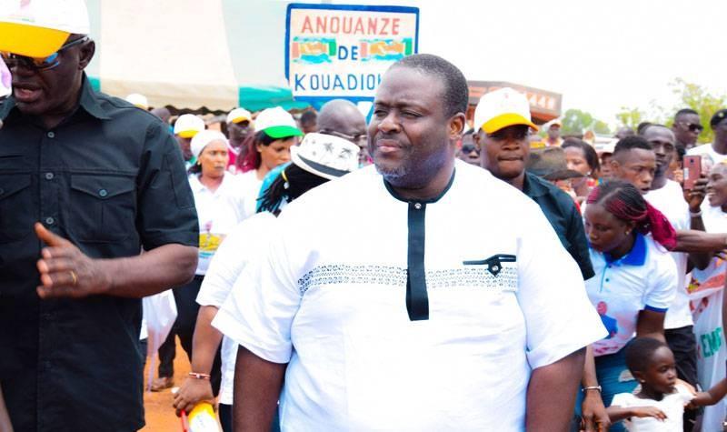 N'Guessan Ahondjon, grand mécène du développement à Arrah veut porter la voix des populations à l'Assemblée nationale. (DR)