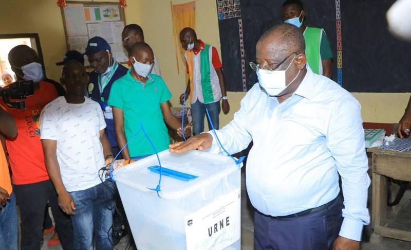 Cissé Ibrahim Bacongo, candidat Rhdp, a accompli son devoir civique. (DR)