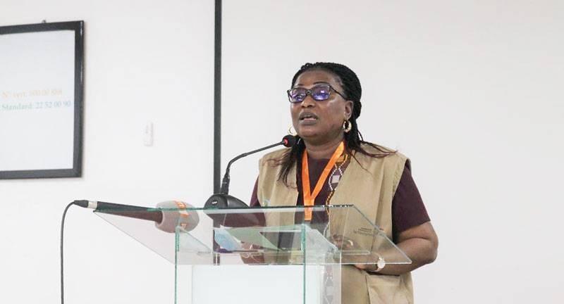 La présidente du CNDH, Mme Namizata Sangaré. (Photo : Ange Kumassi)