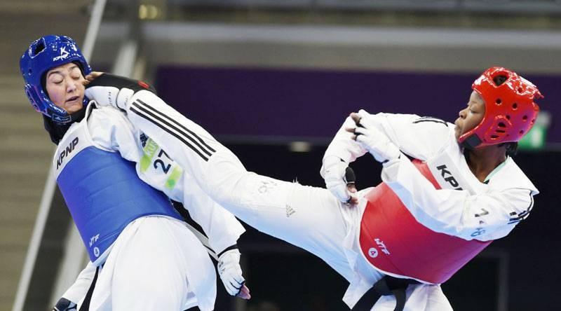 Aminata Charlène Traoré (à droite) a hate de fouler le tapis des Jeux olympiques. (DR)
