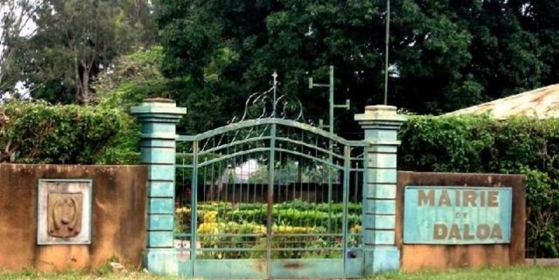 Une vue de l'entrée de la mairie de Daloa. (DR)