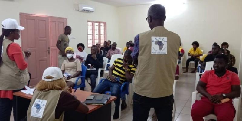 Le wanep-ci sensibilise les populations d'Abengourou à la non-violence. (DR)