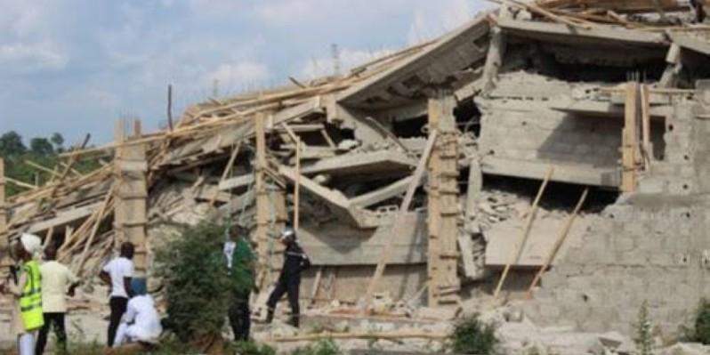 Un immeuble en construction qui s'est effondré. (DR)