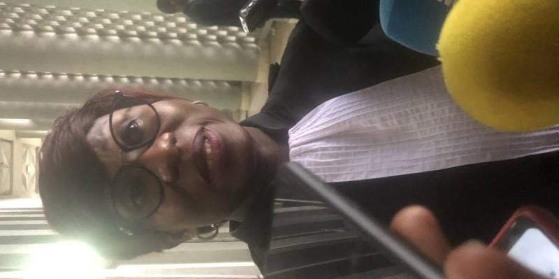 Roseline Aka Sérikpa, l'avocate de Amadé Ouérémi à ce procès. (DR)