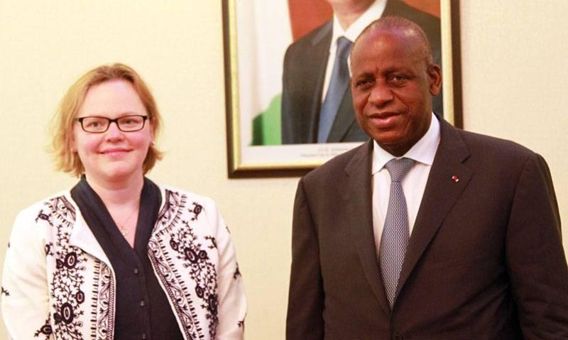 La diplomate britannique a relevé l'excellence des relations entre son pays et la Côte d'Ivoire. (Photo : Sébastien Kouassi)