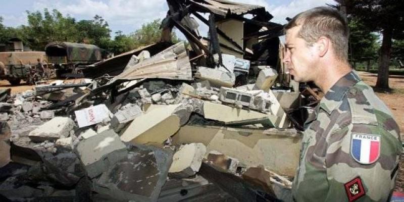 Une photo d'archives de la base militaire française bombardée à cette époque. (Dr)
