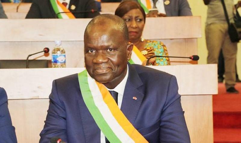 Amadou Soumahoro, réélu président de l'Assemblée nationale. (DR)