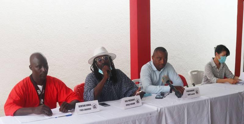 Les responsables de l'Ong, au cours d'une conférence de presse, ont présenté l'organisation au peuple ivoirien. (Photo : Ange Kumassi)