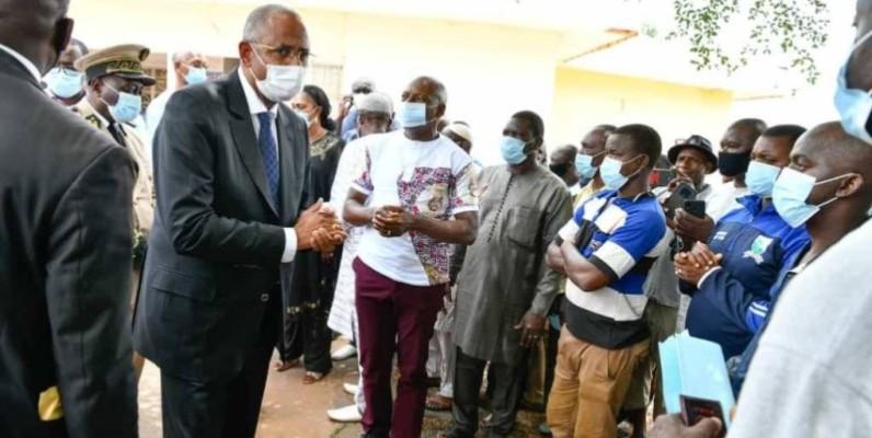 Le Premier ministre Patrick Achi exprime la compassion du Chef de l'Etat aux familles des victimes. (DR)