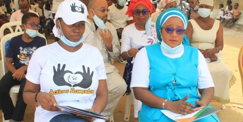 La présidente de Actions Ramadan et Aissata Camara, présidente du comité d'organisation. (DR)