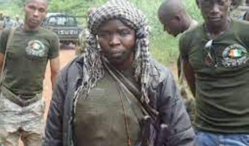 Amadé Ouérémi habillé en tenue militaire en pleine crise post-électorale en 2011. (Photo : DR)