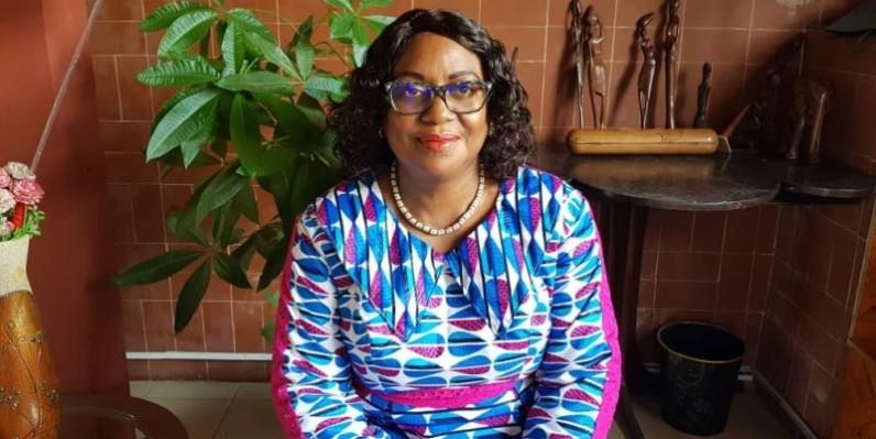 Pr Tidou Sanogo, présidente de l'université Lorougnon Guedé, marraine de la cérémonie d'investiture. (DR)