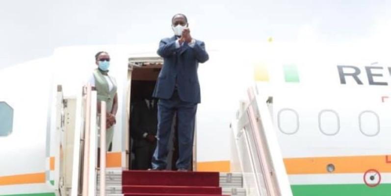 Le Président Alassane Ouattara s'est envolé pour la France. (DR)