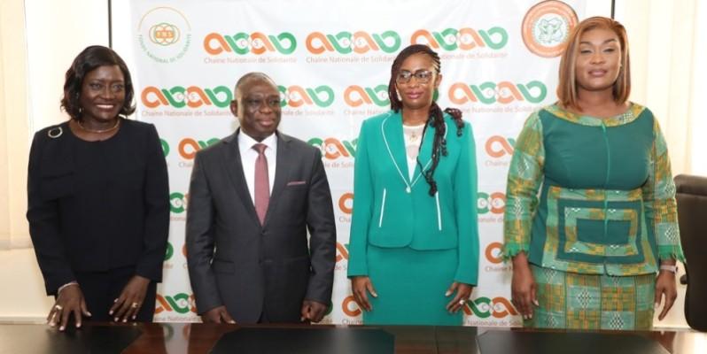 KKB et Belmonde Dogo promettent d'inscrire leurs actions dans la continuité de celles de Mariatou Koné. (Photo : Honoré Bosson)