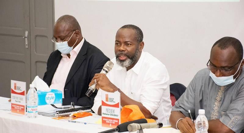 Le comité directeur de la Fibb, version Mahama Coulibaly a présenté son premier bilan, samedi. (DR)