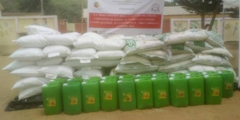 Les vivres offerts par l'Ong Ivoire DD. (Bavane)