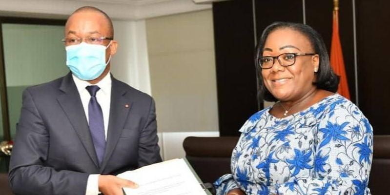Anne Ouloto et Brice Kouassi ont marqué leur engagement et leur volonté de travailler en synergie (DR)