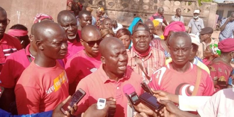 Oumar Koné, porte-parole du personnel. (Ph : Dr)