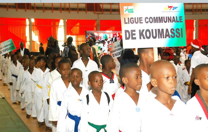 Les Taekwondo-in de la Ligue de Koumassi. (DR)
