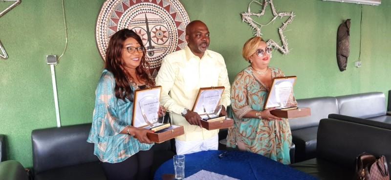 Ouattara Lacinan AL Hassan (au centre), Michelle Piardon Bah (à gauche) et Corinne Baguinoff Kadra ont fait la fierté de la Côte d'Ivoire à Dubaï. (DR)