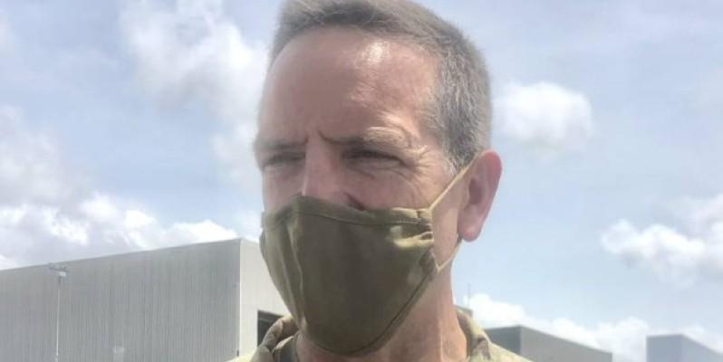 Le général major, Andrew Rohling est en visite en Côte d'Ivoire.(DR)