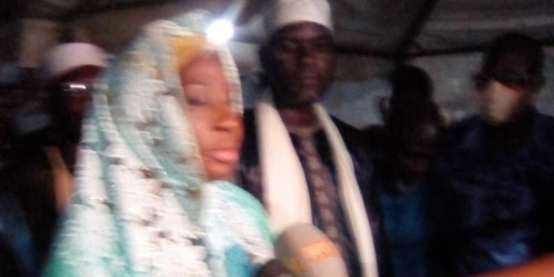 Le ministre d'Etat, Kandia Camara, maire honoraire d'Abobo. ( Franck YEO)