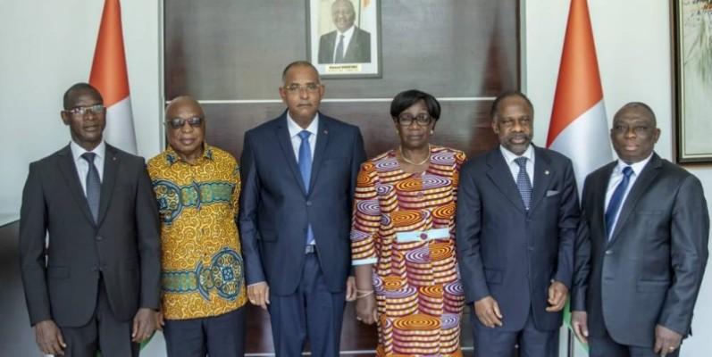 Le Premier Ministre Patrick Achi échange avec des émissaires de l'ex-Président Laurent Gbagbo sur les modalités de son retour  (DR)