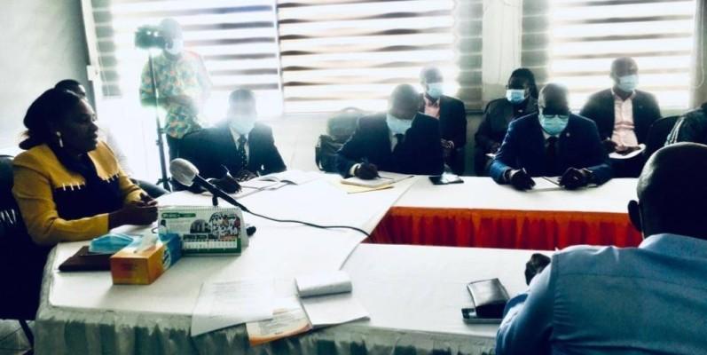 Pr Méliane N'Dhatz, directrice générale de l'Infas, a présenté le bilan des activités. (Photo : Ange Kumassi)