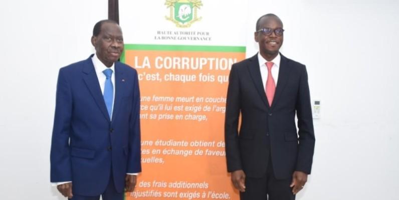 N'Golo Coulibaly (à gauche) et Épiphane Zoro Bi Ballo ont aussi engagé leurs collaborateurs à la mise en place de cette synergie d'action. (DR)