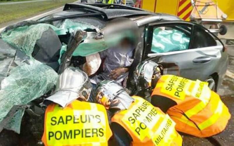 Les Sapeurs-pompiers militaires en pleine opération. (Photo : DR)