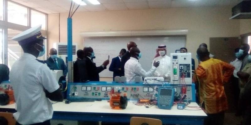 Cette visite a permis à l'ambassadeur du royaume d'Arabie Saoudite en Côte d'Ivoire de toucher du doigt, les réalités de l'Arstm. (DR)