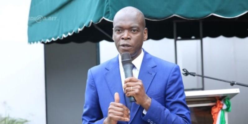 Épiphane Zoro Bi Ballo se dit heureux de l'ambiance qui prévaut dans sa famille politique dans la Marahoué. (DR)
