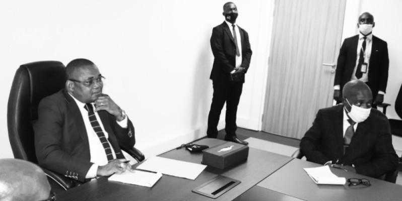 Serey Doh Célestin a exprimé sa ferme volonté de travailler pour le bien-être des agents des Affaires maritimes. (Photo : DR)