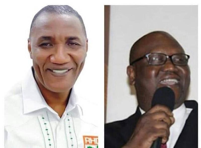 Mamadou Diomandé (député suppléant d'Hamed Bakayoko) et Zoumana Bakayoko