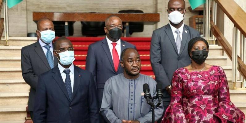 Dee-Maxwell Saah Kemayah, ministre des Affaires étrangères du Liberia était à la tête d'une délégation ministérielle qui a rencontré le Président Ouattara (Ph: Bosson Honoré)
