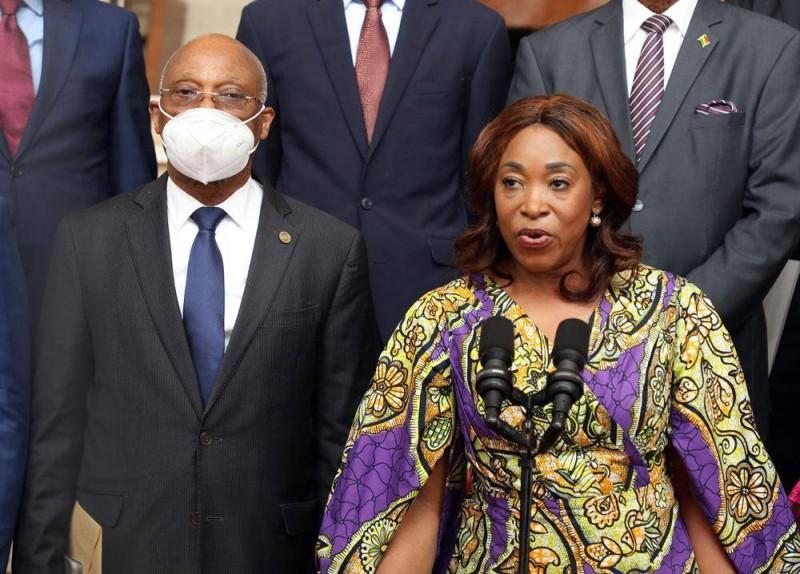 La ministre des Affaires étrangères du Ghana, Shirley Ayorkor Botchway, avec à ses côtés la président de la Commission de la Cedeao, Jean-Claude Brou (Ph: Bosson Honoré).