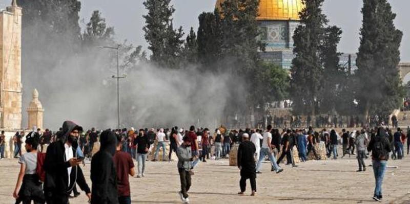 Le Hamas, au pouvoir dans la bande de Gaza, avait auparavant menacé Israël, si ses forces ne se retiraient pas, hier soir, de l'esplanade des Mosquées (DR)
