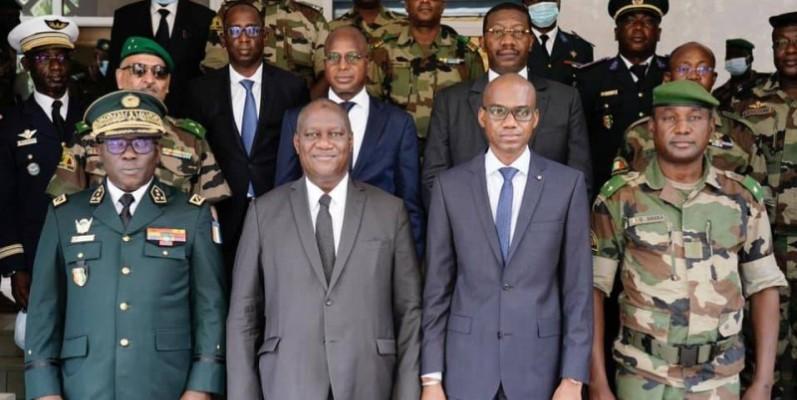 Le ministre d'Etat, ministre de la Défense ivoirien, Téné Birahima Ouattara, a eu une séance de travail avec les autorités maliennes. (Photo : ministère de la Défense-CI)