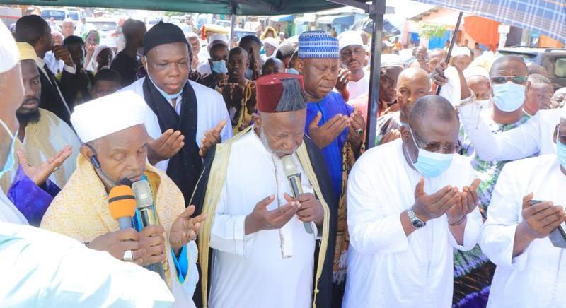 La communauté musulmane de la commune de Koumassi a prié pour la paix en Côte d'Ivoire. (Photo : DR)