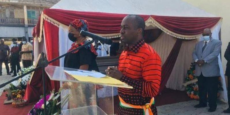 Le maire Jean-Louis Moulot rendant un vibrant hommage à son 1er adjoint au maire disparu. (DR)