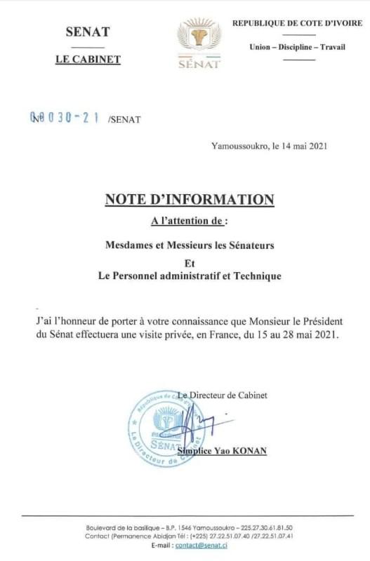 Côte d'Ivoire-Sénat/ Que va encore faire Ahoussou Jeannot en France ?