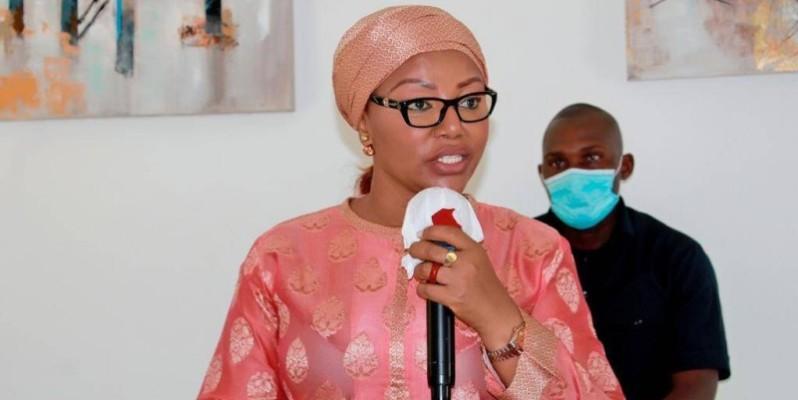 La ministre de la Femme, de la Famille et de l'Enfant, Nassénéba Touré. (DR)